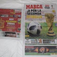 Coleccionismo deportivo: DIARIO MARCA HOY JUGAMOS TODOS. INCLUYE EL MARCA MÁS GRANDE DE LA HISTORIA. MUNDIAL FRANCIA 2018. Lote 126268327