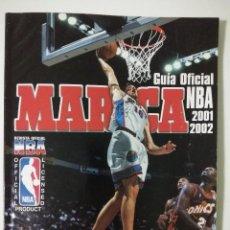 Coleccionismo deportivo: GUIA OFICIAL NBA 2001 2002 MARCA. Lote 126461247