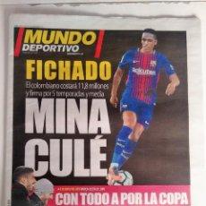 Coleccionismo deportivo: MUNDO DEPORTIVO, FICHAJE DE MINA. Lote 126521911