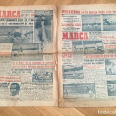 Coleccionismo deportivo: MARCA (2-7-50)(7-7-50) RAMALLETS ESPAÑA INGLATERRA EEUU CHILE SUECIA ITALIA. Lote 126644667