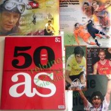 Coleccionismo deportivo: AS 50 AÑOS REVISTA 296 P DEPORTE HISTORIA DE ESPAÑA FÚTBOL TENIS CICLISMO F1 NADAL NIETO GASOL ANTÓN. Lote 126786735