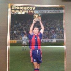 Coleccionismo deportivo: POSTER REVISTA DON BALÓN STOICHKOV BARCELONA BALÓN ORO 1994. Lote 139378181