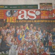 Coleccionismo deportivo: AS CAMPEÓN SUPERCOPA ATLÉTICO DE MADRID 1 DE SEPTIEMBRE 2012 - CELEBRACIÓN 2 DE SEPTIEMBRE . Lote 162673796