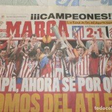 Coleccionismo deportivo: AS ATLÉTICO DE MADRID CAMPEÓN EUROPA LEAGUE JUEVES 13 DE MAYO 2010 AT MADRID 2- FULHAM 1. Lote 162673322