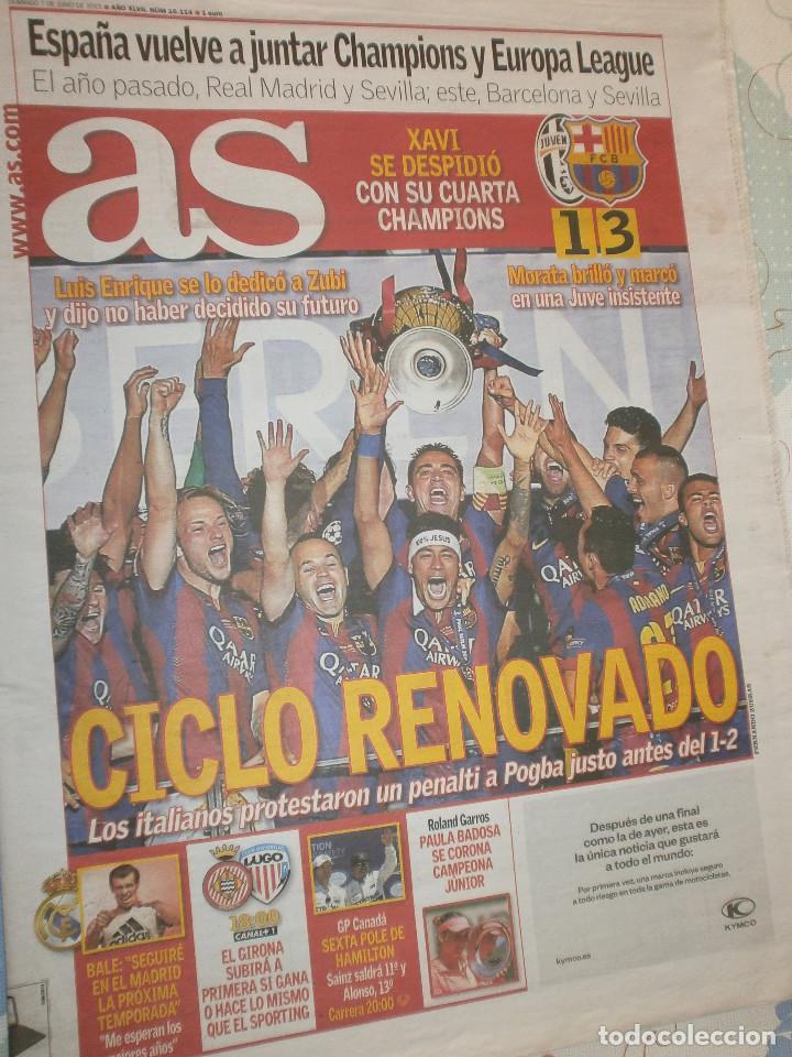 AS FC BARCELONA CAMPEÓN 5º CHAMPIONS LEAGUE JUVENTUS 1 - FCB 3 (Coleccionismo Deportivo - Revistas y Periódicos - As)