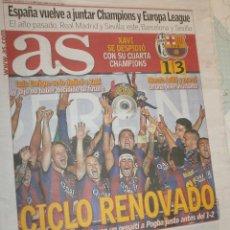 Coleccionismo deportivo: AS FC BARCELONA CAMPEÓN 5º CHAMPIONS LEAGUE JUVENTUS 1 - FCB 3. Lote 162673394