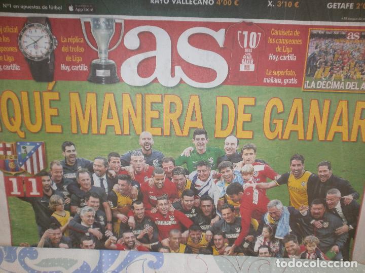 AS CAMPEÓN LIGA ATLÉTICO DE MADRID 2013/14 - CELEBRACIÓN LIGA (Coleccionismo Deportivo - Revistas y Periódicos - As)
