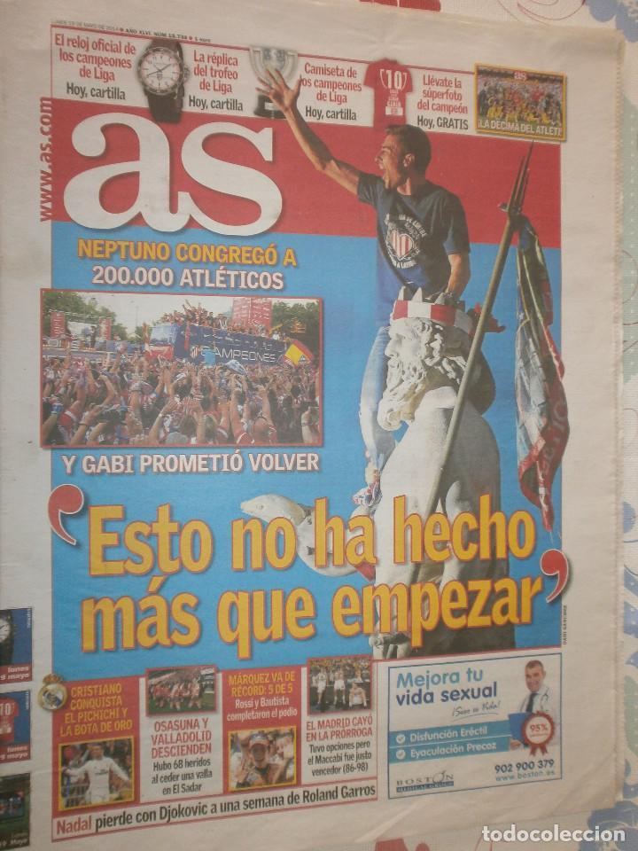 Coleccionismo deportivo: As Campeón Liga Atlético de Madrid 2013/14 - Celebración Liga - Foto 2 - 127116667