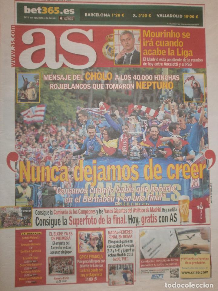 AS CAMPEÓN COPA ATLÉTICO DE MADRID 2013/14 - CELEBRACIÓN COPA (Coleccionismo Deportivo - Revistas y Periódicos - As)
