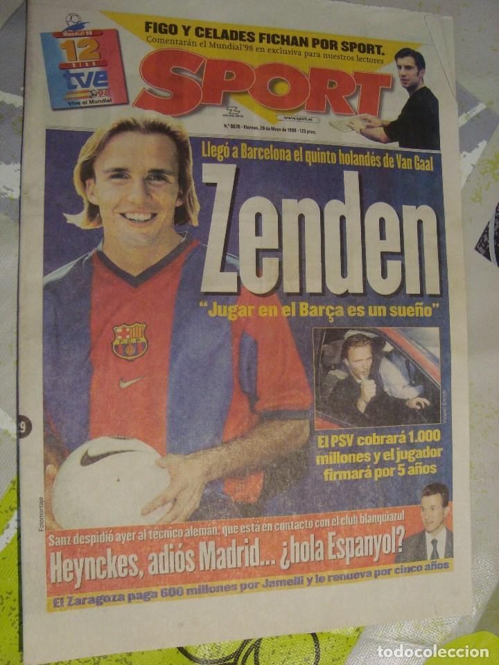 Portada Sport 1998 Mayo Dia 29 Fichaje Zenden Vendido En Venta