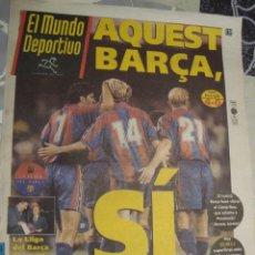 Coleccionismo deportivo: PORTADA EL MUNDO DEPORTIVO 1995 AGOSTO DIA 23 AQUEST BARÇA SI. Lote 127758179