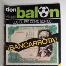 Coleccionismo deportivo: DON BALON, ¡BANCARROTA!. Lote 128504627