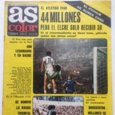 Coleccionismo deportivo: SEMANARIO GRÁFICO DEPORTIVO AS COLOR NÚM. 287 1976 - PÓSTER QUINI SPORTING DE GIJÓN - REMO. Lote 128559634