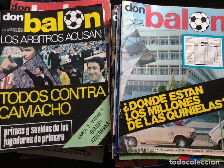 DON BALÓN LOTE DE 209 EJEMPLARES DEL N° 1,2,3,4,5...AL N° 301 (Coleccionismo Deportivo - Revistas y Periódicos - Don Balón)