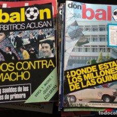 Coleccionismo deportivo: DON BALÓN LOTE DE 209 EJEMPLARES DEL N° 1,2,3,4,5...AL N° 301. Lote 128828091