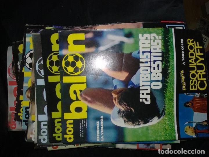 Coleccionismo deportivo: Don Balón lote de 209 ejemplares del n° 1,2,3,4,5...al n° 301 - Foto 3 - 128828091