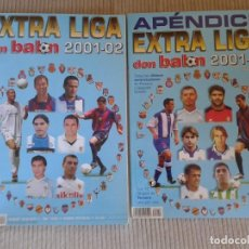 Coleccionismo deportivo: DON BALON. EXTRA LIGA 2001-2002 + APÉNDICE. Lote 128881595