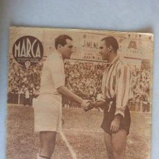 Coleccionismo deportivo: SEMANARIO GRAFICO MARCA. Nº 172. 1942. PARTIDO MADRID-A.BILBAO. Lote 128898599