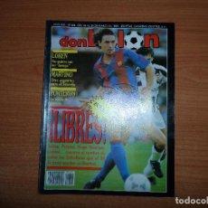 Coleccionismo deportivo: DON BALON Nº 804 1991 MARTINO TENERIFE QUINI POSTER ZARAGOZA BETIS CUELLAR AQUINO Y COMAS MURCIA . Lote 129410515