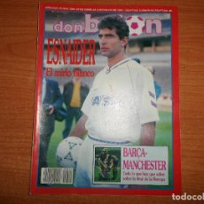 Coleccionismo deportivo: DON BALON Nº 810 ESNAIDER REAL MADRID JUVENTUS VS BARCELONA FINALISTA RECOPA VS MANCHESTER UNITED . Lote 129415903