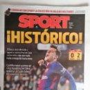 Coleccionismo deportivo: SPORT PRIMER GOL DE COUTINHIO CON EL F.C. BARCELONA. Lote 129678635