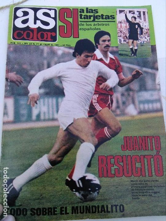 AS COLOR 1981 JUANITO (Coleccionismo Deportivo - Revistas y Periódicos - As)