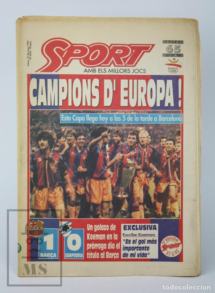 DIARIO SPORT EN CATALÁN - FÚTBOL CLUB BARCELONA / BARÇA - CAMPEONES / CAMPIONS EUROPA - AÑO 1992 (Coleccionismo Deportivo - Revistas y Periódicos - Sport)