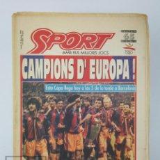 Coleccionismo deportivo: DIARIO SPORT EN CATALÁN - FÚTBOL CLUB BARCELONA / BARÇA - CAMPEONES / CAMPIONS EUROPA - AÑO 1992. Lote 129964651
