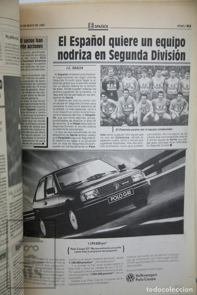 Coleccionismo deportivo: Diario Sport en Catalán - Fútbol Club Barcelona / Barça - Campeones / Campions Europa - Año 1992 - Foto 2 - 129964651