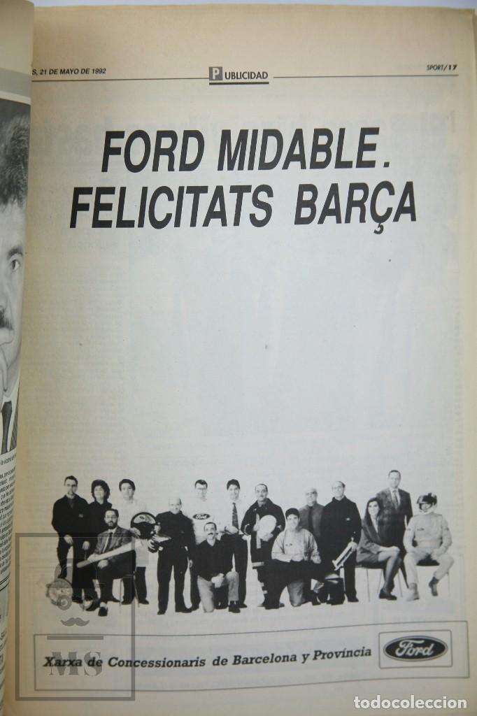 Coleccionismo deportivo: Diario Sport en Catalán - Fútbol Club Barcelona / Barça - Campeones / Campions Europa - Año 1992 - Foto 6 - 129964651