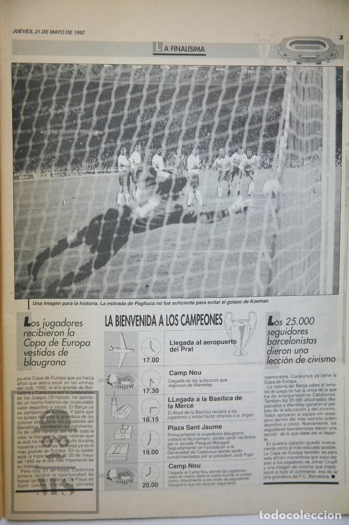 Coleccionismo deportivo: Diario Sport en Catalán - Fútbol Club Barcelona / Barça - Campeones / Campions Europa - Año 1992 - Foto 7 - 129964651