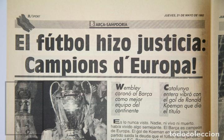 Coleccionismo deportivo: Diario Sport en Catalán - Fútbol Club Barcelona / Barça - Campeones / Campions Europa - Año 1992 - Foto 8 - 129964651