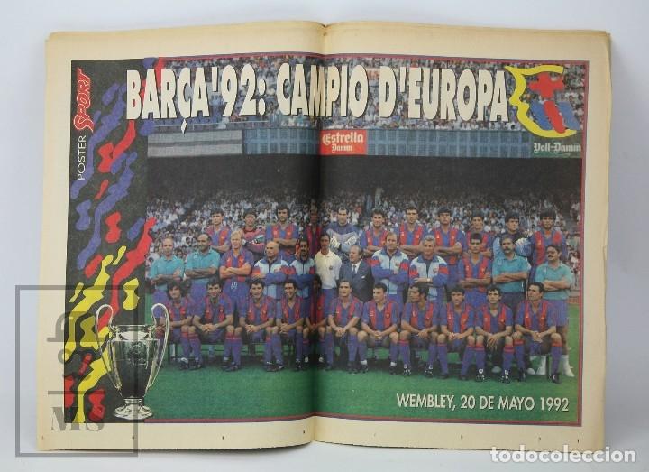 Coleccionismo deportivo: Diario Sport en Catalán - Fútbol Club Barcelona / Barça - Campeones / Campions Europa - Año 1992 - Foto 4 - 129964651