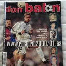 Coleccionismo deportivo: REVISTA DON BALON Nº 1276 - 27 MAR 2 ABR 2000 - REAL MADRID 00 01 - POSTER HASSELBAINK - LEER ESTADO. Lote 130054787