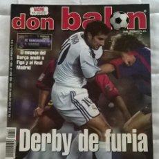 Coleccionismo deportivo: REVISTA DON BALON Nº 1306 - 23 29 OCTUBRE 2000 DERBY DE FURIA POSTER RACING SANTANDER - LEER ESTADO. Lote 130072815