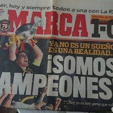 Coleccionismo deportivo: PERIÓDICO DIARIO MARCA ESPAÑA 1 ALEMANIA 0 CAMPEONES DE LA EUROCOPA 30-06-2008. Lote 130289055
