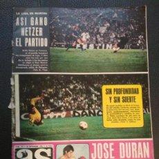 Coleccionismo deportivo: REVISTA AS COLOR Nº 173 POSTER RCD ESPAÑOL 74/75 ALINEACION LIGA 1974/1975 BREITNER UFARTE MARAÑON . Lote 130365934