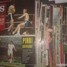 Coleccionismo deportivo: LOTE 44 NÚMEROS DESDE EL N° 56 AL N°100 CON SUS POSTERS 1972 1973 AS COLOR. Lote 130370002