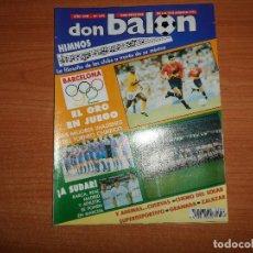 Coleccionismo deportivo: DON BALON 875 ZALAZAR ALBACETE BARCELONA 92 ESPAÑA VS COLOMBIA EGIPTO QATAR PRESENTACION REAL MADRID. Lote 130511822