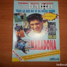 Coleccionismo deportivo: DON BALON 878 ESPECIAL MARADONA POSTER KIKO FUTBO VERANO LEEDS UNITED RIVER PLATE NEWELLS OLD BOYS . Lote 130513426