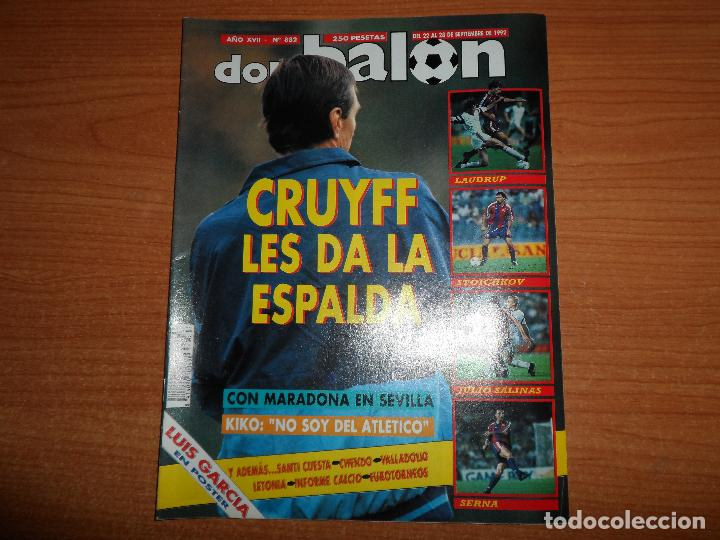 DON BALON 882 MARADONA SEVILLA POSTER LUIS GARCIA ATLETICO MADRID COPA EUROPBA BARCELONA VS VIKING (Coleccionismo Deportivo - Revistas y Periódicos - Don Balón)