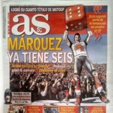 Coleccionismo deportivo: AS, MARC MARQUEZ SEIS VECES CAMPEÓN DEL MUNDO. Lote 130648103