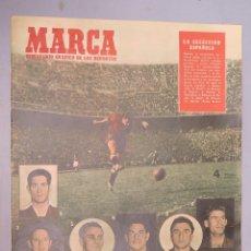 Coleccionismo deportivo: MARCA.3-JUNIO-1952. N-496. VICTORIA DE ESPAÑA SOBRE IRLANDA. Lote 130685929