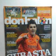 Coleccionismo deportivo: DON BALON Nº 1700 RAÚL GONZÁLEZ DEL PIERO DAVID VILLA VALENCIA PASILLO REAL MADRID BARCELONA. Lote 130696468