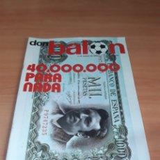 Coleccionismo deportivo: DON BALÓN. 6/01/1976. CON POSTER.. Lote 130794884