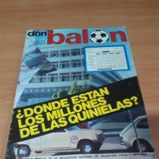 Coleccionismo deportivo: DON BALÓN. N° 1. 7/10/1975. SIN POSTER.. Lote 130797675