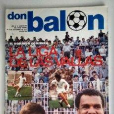 Coleccionismo deportivo: DON BALON, COMIENZA LA LIGA DE LAS VALLAS 77/78. Lote 130834524