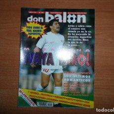 Coleccionismo deportivo: DON BALON 905 REAL MADRID VS DEPORTIVO POSTER BURGOS MARADONA ESPAÑA VS LITUANIA BRASIL VS ARGENTINA. Lote 130844472