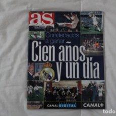 Coleccionismo deportivo: DIARIO AS. CENTENARIO DEL REAL MADRID. CONDENADOS A GANAR. CIEN AÑOS Y UN DÍA 2002. Lote 130895244