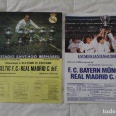 Coleccionismo deportivo: DIARIO AS. CARTELES DE PARTIDOS HISTÓRICOS DEL REAL MADRID. EDICIÓN FACSÍMIL. Lote 130896540